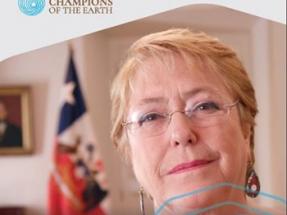 La 3ª Asamblea de la ONU para el Medio Ambiente concede a la presidente Michelle Bachelet el premio Campeones de la Tierra