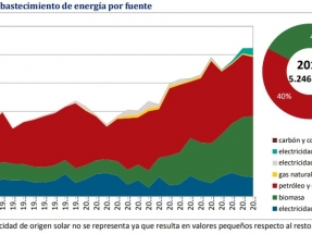 La biomasa supera por primera vez al petróleo y sus derivados en la matriz energética